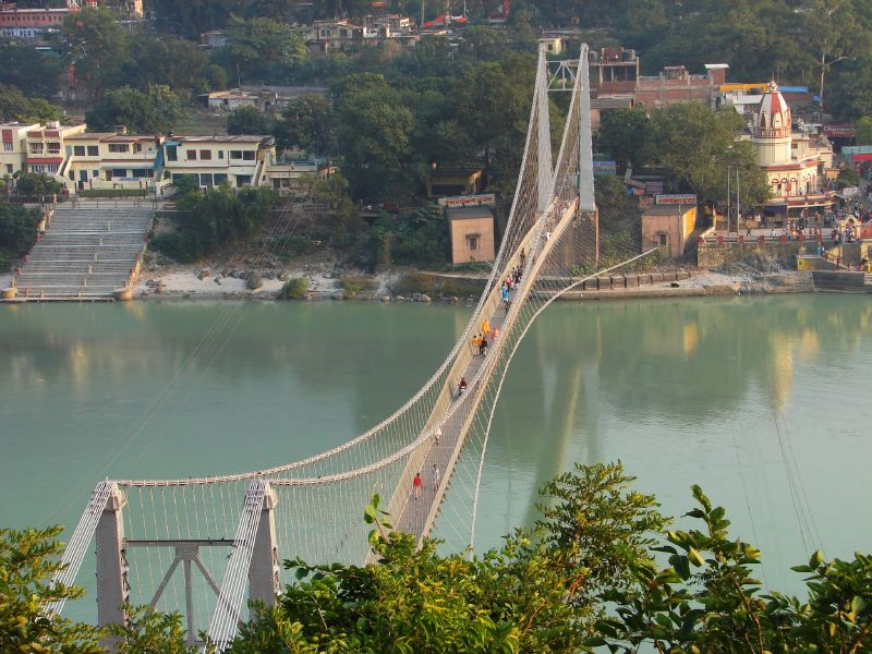 Ganges from Ram Jhula Rishikesh